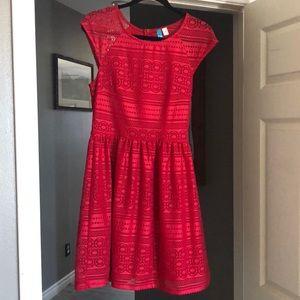 Red Francesca dress